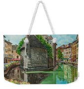 Annecy-the Venice Of France Weekender Tote Bag