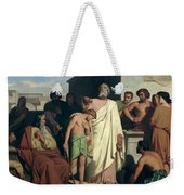 Annointing Of David By Saul Weekender Tote Bag by Felix-Joseph Barrias