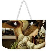 Announcing Angel, Detail From Annunciation Weekender Tote Bag