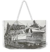 Annual Haul Out Chris Craft Yacht Weekender Tote Bag