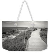 Another Asilomar Beach Boardwalk Black And White Weekender Tote Bag