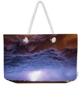 Another Impressive Nebraska Night Thunderstorm 007 Weekender Tote Bag