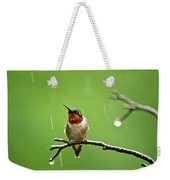 Another Rainy Day Hummingbird Weekender Tote Bag