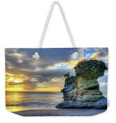 Anse Mamin Rock Formation At Sunset Saint Lucia Caribbean Sunset Weekender Tote Bag