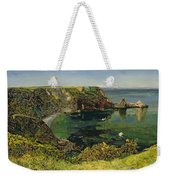 Anstey's Cove In Devon Weekender Tote Bag by John William Inchbold