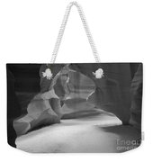 Antelope Slot Canyon Black And White Weekender Tote Bag