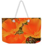 Antelope Valley Poppy Portrait Weekender Tote Bag