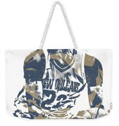 Anthony Davis New Orleans Pelicans Pixel Art 21 Weekender Tote Bag