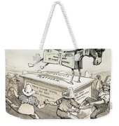 Anti-greenback Cartoon Weekender Tote Bag