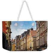 antique building view in Old Town Lille, France Weekender Tote Bag