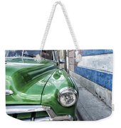 Antique Car And Mural 2 Weekender Tote Bag