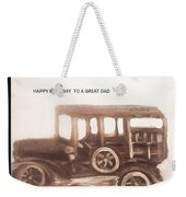 Antique Car For Dads Day Weekender Tote Bag