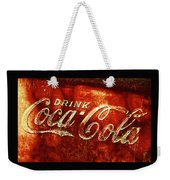 Antique Coca-cola Cooler II Weekender Tote Bag