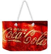 Antique Coca-cola Cooler Weekender Tote Bag
