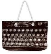 Antique Keyboard - Sepia Weekender Tote Bag