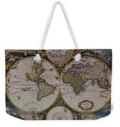 Antique Map Exotic Colorful Weekender Tote Bag