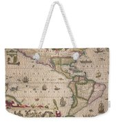 Antique Map Of America Weekender Tote Bag