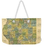 Antique Map Of Indianapolis By The Parry Mfg Company - Historical Map Weekender Tote Bag