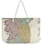 Antique Map Of Ireland Showing The Provinces Weekender Tote Bag by Johann Baptist Homann