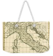 Antique Map Of Italy Weekender Tote Bag