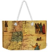 Antique Map Of Palestine 1856 On Worn Parchment Weekender Tote Bag