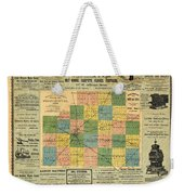 Antique Map Of The Mclean County - Business Advertisements - Historical Map Weekender Tote Bag