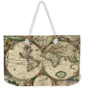 Antique Map Of The World - 1689 Weekender Tote Bag