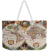 Antique Map Of The World - Double Hemisphere Weekender Tote Bag