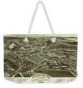 Antique Maps - Old Cartographic Maps - Antique Bird's Eye Map Of Sandwich, Massachusetts, 1884 Weekender Tote Bag
