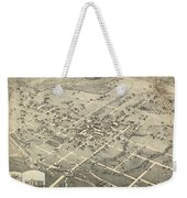 Antique Maps - Old Cartographic Maps - Antique Birds Eye View Map Of Denton, Texas, 1883 Weekender Tote Bag