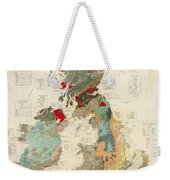 Antique Maps - Old Cartographic Maps - Antique Geological Map Of The British Islands Weekender Tote Bag