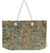 Antique Maps - Old Cartographic Maps - Antique Map Of Scandinavia In Latin, 1539 Weekender Tote Bag