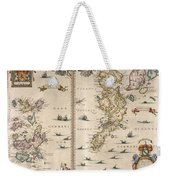 Antique Maps - Old Cartographic Maps - Antique Map Of Schetland And Orkney Islands - Scotland,1654 Weekender Tote Bag