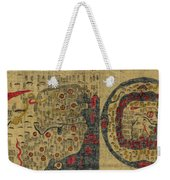 Antique Maps - Old Cartographic Maps - Antique Map Chinese Map Of The World, Ming Era Weekender Tote Bag