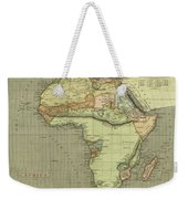 Antique Maps - Old Cartographic Maps - Antique Map Of Africa Weekender Tote Bag