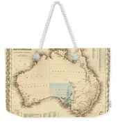 Antique Maps - Old Cartographic Maps - Antique Map Of Australia Weekender Tote Bag