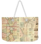 Antique Maps - Old Cartographic Maps - Antique Map Of Lawrence And Beaver Counties, 1860 Weekender Tote Bag