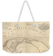 Antique Maps - Old Cartographic Maps - Antique Map Of Cape Cod, Massachusetts, 1836 Weekender Tote Bag