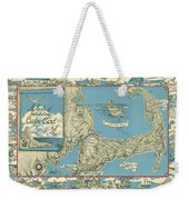 Antique Maps - Old Cartographic Maps - Antique Map Of Cape Cod, Massachusetts, 1945 Weekender Tote Bag
