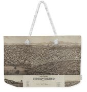 Antique Maps - Old Cartographic Maps - Antique Map Of Ciudad, Mexico, 1890 Weekender Tote Bag