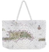 Antique Maps - Old Cartographic Maps - Antique Map Of Hispaniola - Caribbean Island Weekender Tote Bag