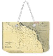 Antique Maps - Old Cartographic Maps - Antique Map Of Lompoc Landing, California, 1888 Weekender Tote Bag