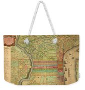 Antique Maps - Old Cartographic Maps - Antique Map Of Philadelphia, Pennsylvania, 1802 Weekender Tote Bag