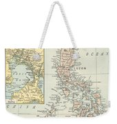 Antique Maps - Old Cartographic Maps - Antique Map Of Philippine Islands And Manila Bay, 1898 Weekender Tote Bag