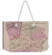 Antique Maps - Old Cartographic Maps - Antique Map Of Sudbury, Canada, 1875 Weekender Tote Bag