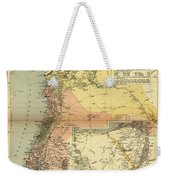 Antique Maps - Old Cartographic Maps - Antique Map Of Syria, 1884 Weekender Tote Bag