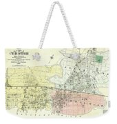 Antique Maps - Old Cartographic Maps - Antique Map Of The City Of Chester, England, 1870 Weekender Tote Bag