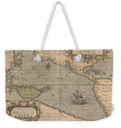 Antique Maps - Old Cartographic Maps - Antique Map Of The Pacific Ocean - Mar Del Zur, 1589 Weekender Tote Bag
