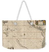 Antique Maps - Old Cartographic Maps - Antique Map Of The Strait Of Magellan, South America, 1650 Weekender Tote Bag