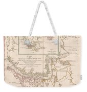 Antique Maps - Old Cartographic Maps - Antique Map Of The Strait Of Magellan, South America, 1787 Weekender Tote Bag